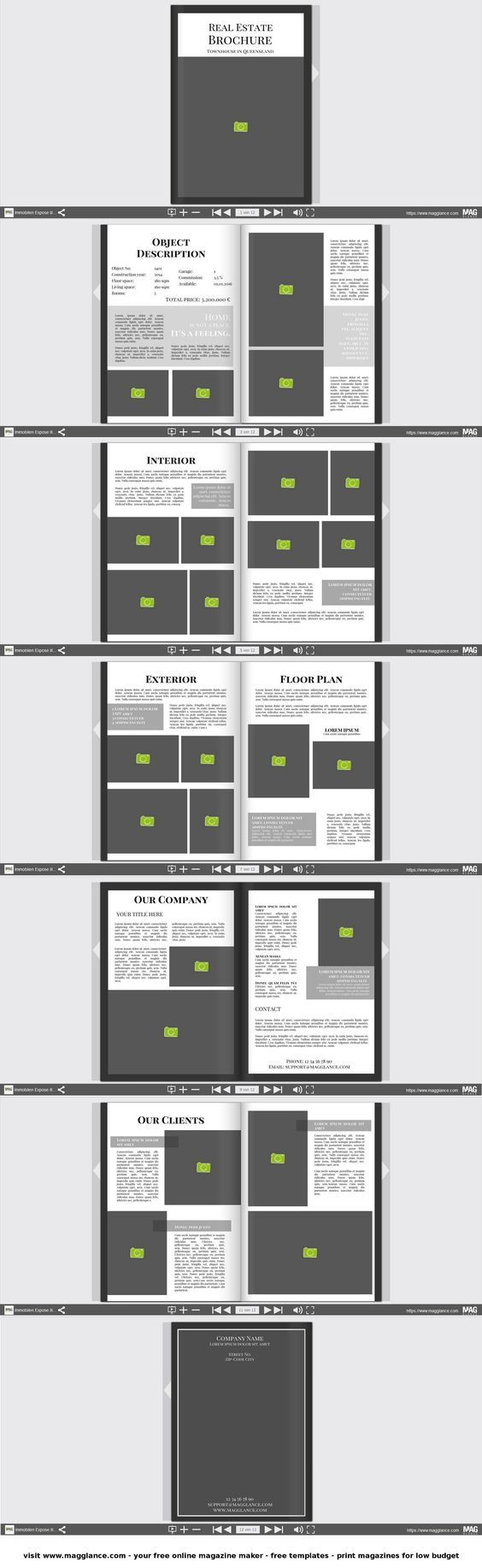 10 best Broszura - szablony images on Pinterest | Brochure design ...