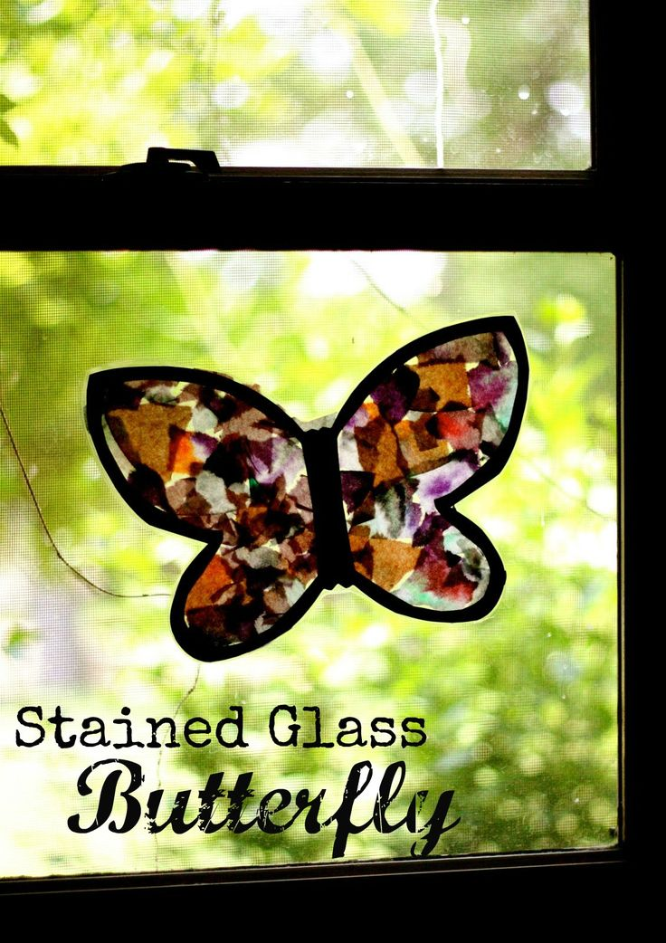 Stained glass butterfly activities butterfly crafts and for Butterfly stained glass craft