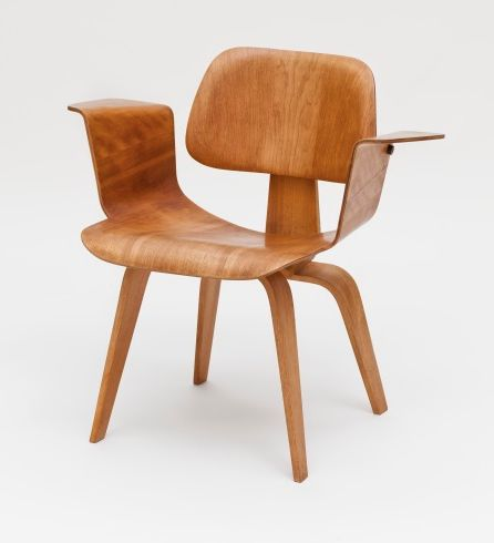 Charles and Ray Eames; Molded Plywood Armchair for Evans products, c1945.
