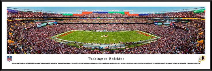 Washington Redskins Panoramic Picture - FedExField Panorama - Standard Frame $99.95