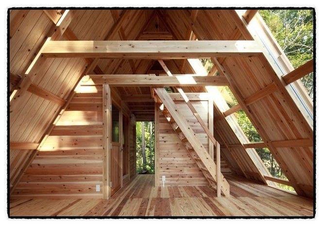 삼각지붕 소형주택입니다 A frame                                                                                                                                                                                 More