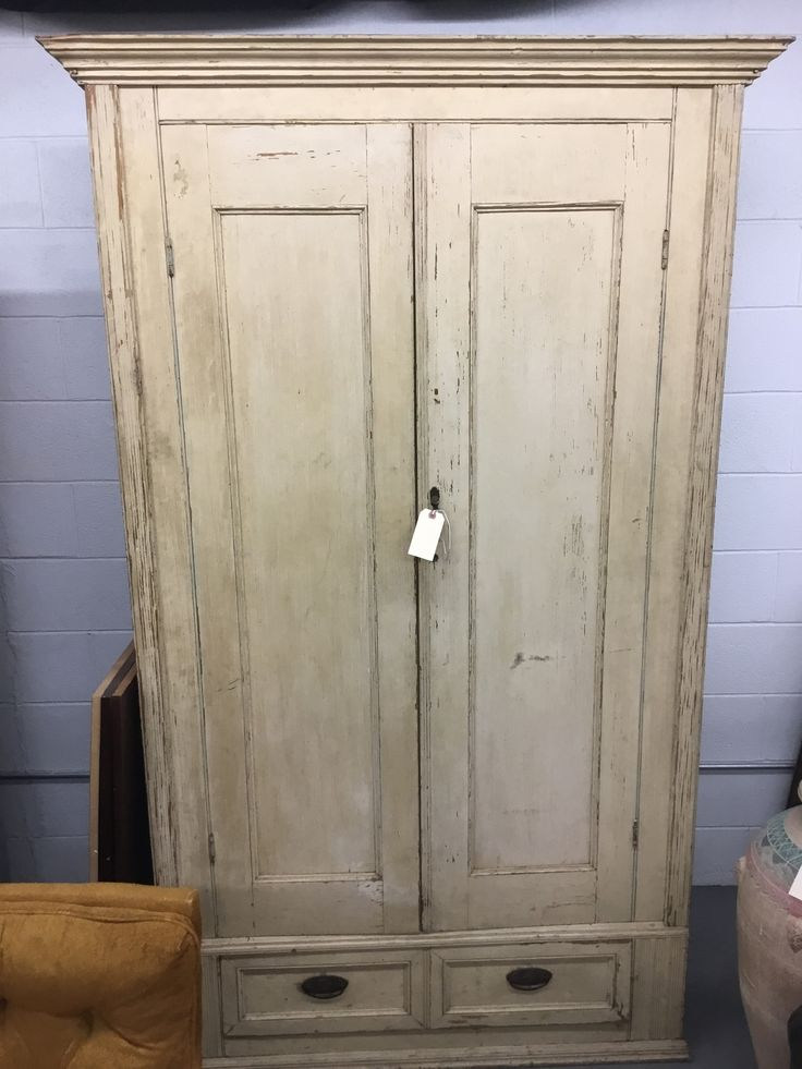 Antique Rustic Painted Wardrobe