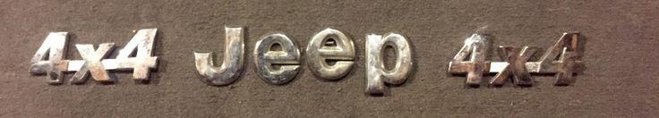 Jeep Grand Cherokee 4x4 Emblem Badge Decal Rear Trunk Logo Letters symbol OEM #OEM
