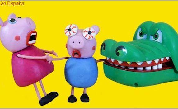 Peppa Pig & George Extreme Crocodile Dentist | Peppa Pig En Español Play Doh