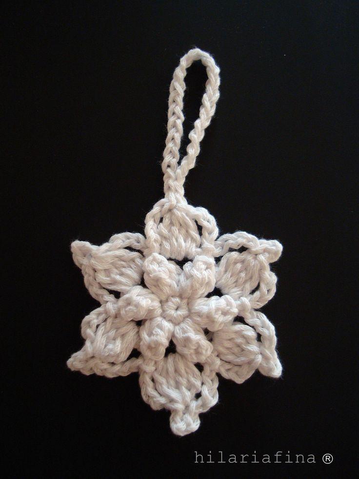 by hf Crochet Flower Snowflake ❥ 4U // hf http://www.pinterest.com/hilariafina/