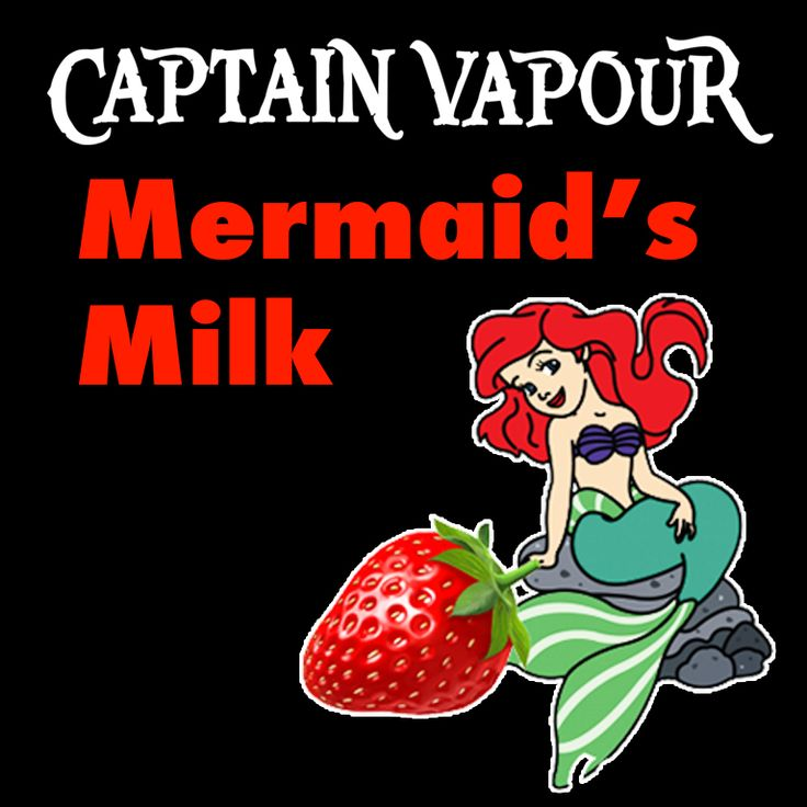 Mermaid's Milk E-Liquid - A delicious strawberry milkshake with vanilla custard and cream. The perfect amount of nipple! A Captain Vapour bestseller.