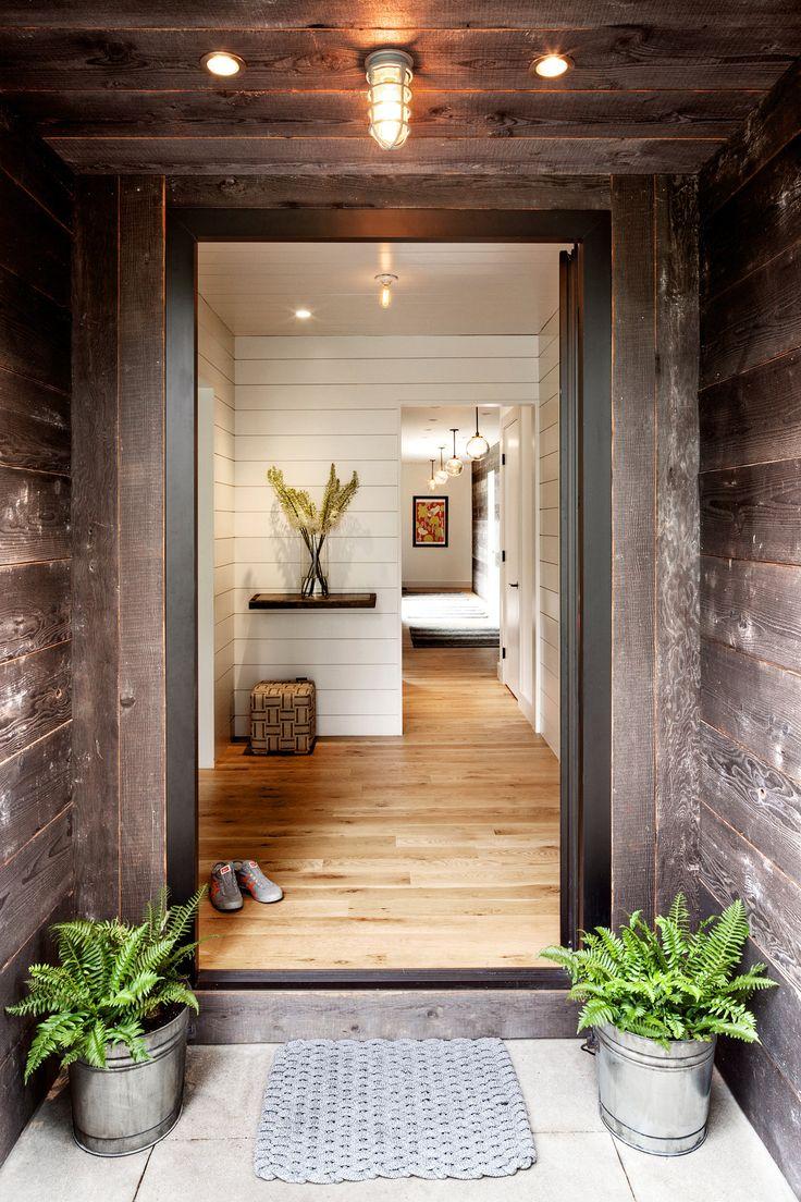 modern rustic entry