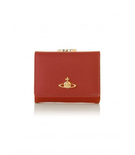 Christmas 2016   Vivienne Westwood Saffiano 1311 Small Clasp Purse Cherry Red Sale