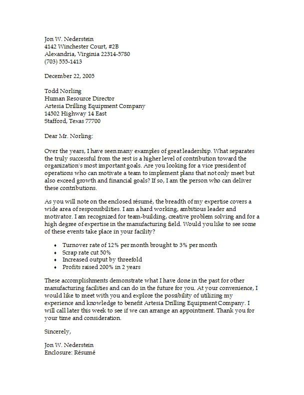 Employment Cover Letter  Job Sample Cover Letter