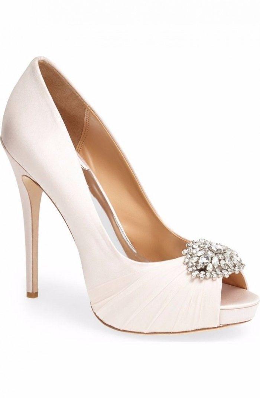 Sapatos de noiva peep toe!
