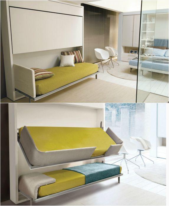 Экономичная двухъярусная кровать.