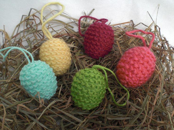 Ostereier - behäkelte kleine Ostereier, bunt, 4 cm - ein Designerstück von Pfiffiges bei DaWanda