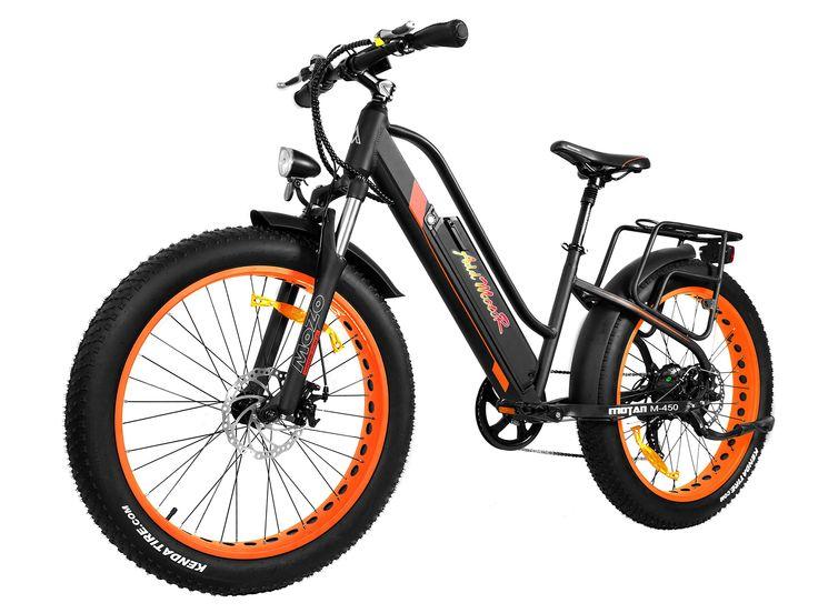 Addmotor MOTAN Electric Bicycle Fitness Bike 26 Inch Fat Tire Full Suspension 500W Motor Mountain Electric Bike 2018 M-450 Commuter E-bike(Orange)
