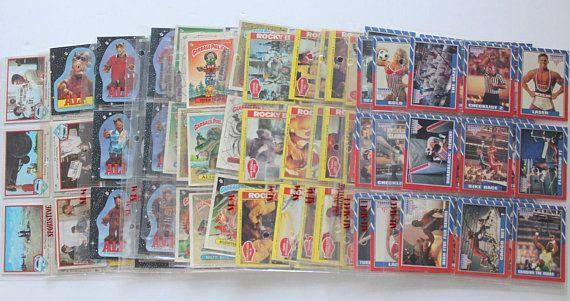 Vintage Garbage Pail Kids Rocky II Alf Superman & More
