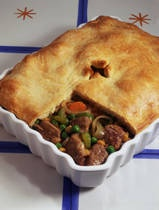 Beef Pot Pie-- a good way to use up leftover roast beef.