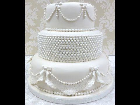Karen Davies Cake Decorating Moulds / molds - Pearls - free beginners tutorial - YouTube
