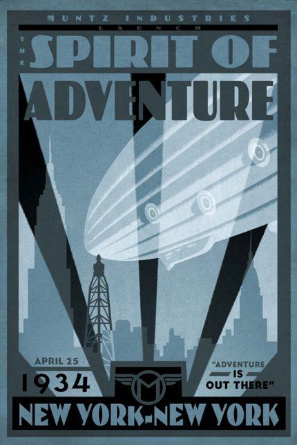 """Vintage travel poster, """"Up,"""" 2009."""