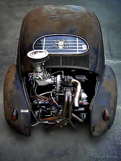 vw rat rod with turbo cool turbo stuff pinterest rat rods and rats. Black Bedroom Furniture Sets. Home Design Ideas