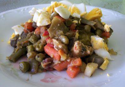 Asopaipas. Recetas de Cocina Casera .: Menestra de Verduras a la Asturiana