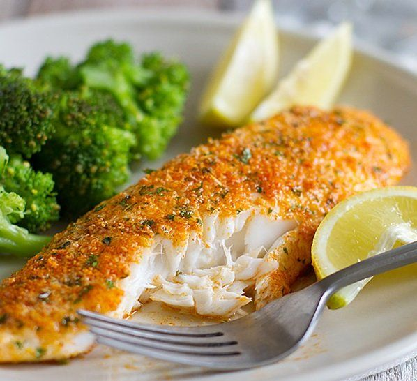 Ingredients 3 to 4 tilapia fillet, depending on size 1⁄4 cup bread crumbs, or crushed buttery round crackers 1⁄4 cup parmesan cheese, grated 1 tbsp Italian seasoning 1 tsp garlic powder 1 tbsp lemon juice 1 kosher salt, to taste 1 pepper, to taste 1 garlic powder, to taste 1 olive oil Directions…