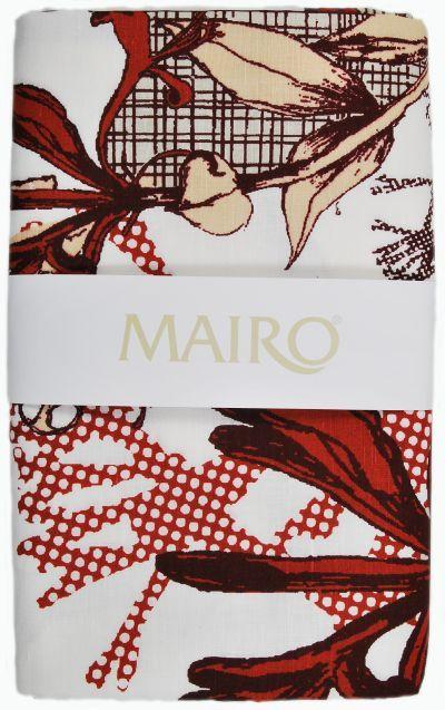Mairo Myrten table cloth in red. Designed by Anna Backlund.