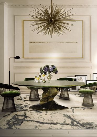 Boca do Lobo | Dining room sets: dining room chairs with Bonsai dining room table and dining room lamps suspended. Beautiful dining room ideas | See more at diningroomideas.eu