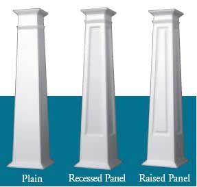 Craftsman PVC Columns- these wrap your existing columns.