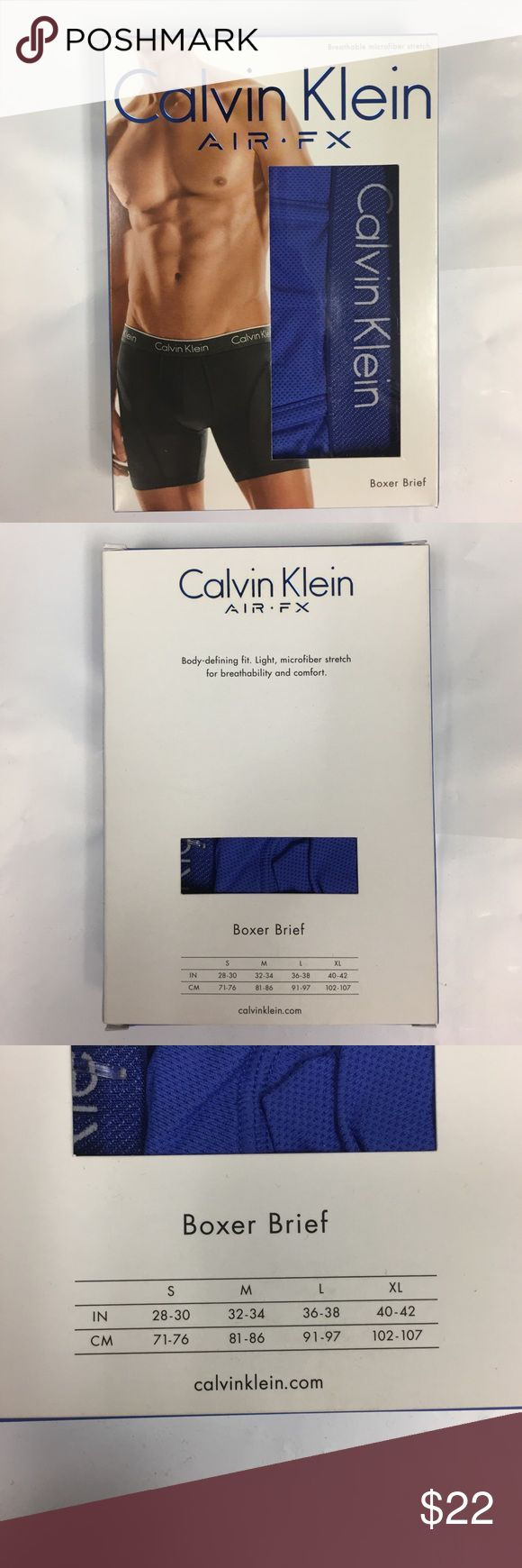 Calvin Klein Air FX Boxer Brief x 1 NWT Brand new in box. 100% cotton. Each box includes 1 pair. No trades. No offers. Please do not ask. Thank you for understanding. Calvin Klein Underwear & Socks Boxer Briefs