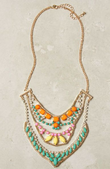Favorite Necklace #Anthropologie: Anthropology, Coats Necklaces, Statement Necklaces, Color, Necklaces Anthropology, Anthropology Necklaces, Summer Clothing, Bibs Necklaces, Sugar Coats