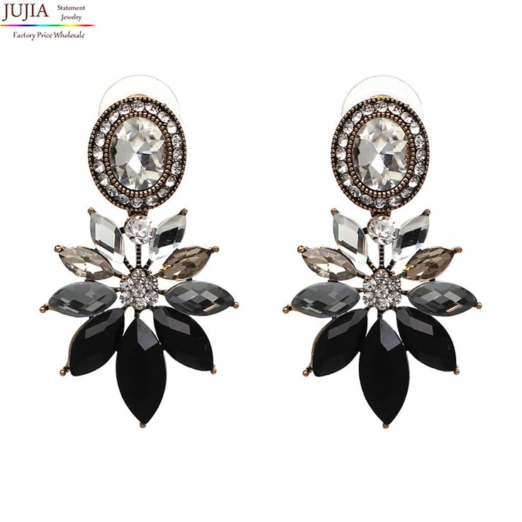 Good quality crystal earring Wholesale fashion women statement Earrings for women lady girl party vintage stud earring