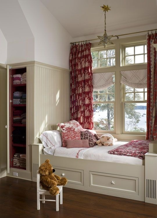 Bedroom window seats with storage window bed pinterest for Bedroom designs with window seat