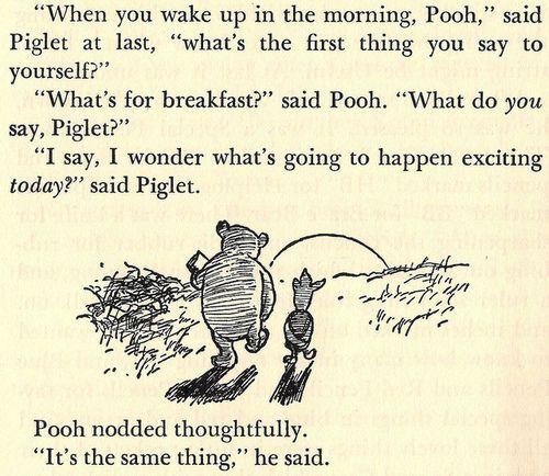 : Words Of Wisdom, Piglets, Poohbear, New Start, Pooh Bears, Quote, Life Lessons, Winniethepooh, Winnie The Pooh