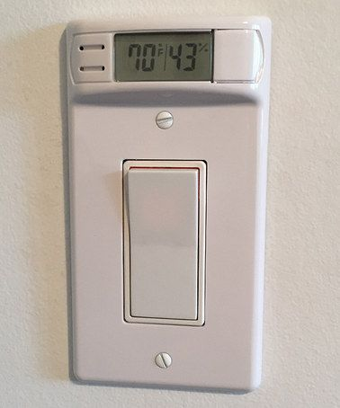 Love this White Rocker Switch Relative Humidity Thermometer Wallplate on #zulily! #zulilyfinds