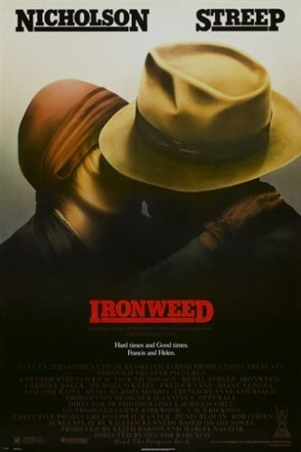 IRONWEED vintage movie poster JACK NICHOLSON meryl streep RETRO 24X36 gem Brand New. 24x36 inches. Will ship in a tube. - Multiple item purchases are combined the next day and get a discount for domes