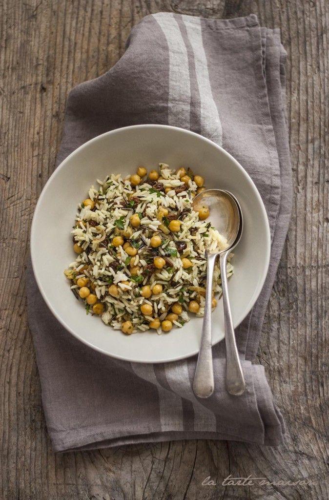 Insalata di riso, ceci e uvetta #latartemaison