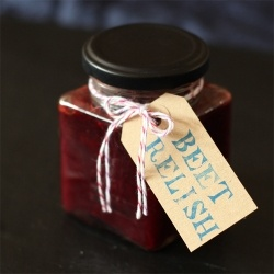 Roast beetroot, chilli & balsamic relish - perfect for a homemade Christmas gift!
