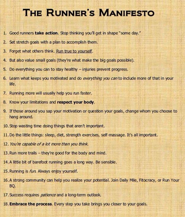 The #Runner's Manifesto