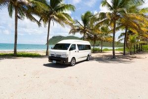 St Lucia Private Shuttle Transfers - Our private airport shuttle buses are perfect for small groups or families. It seats up to 10 people with luggage comfortably.