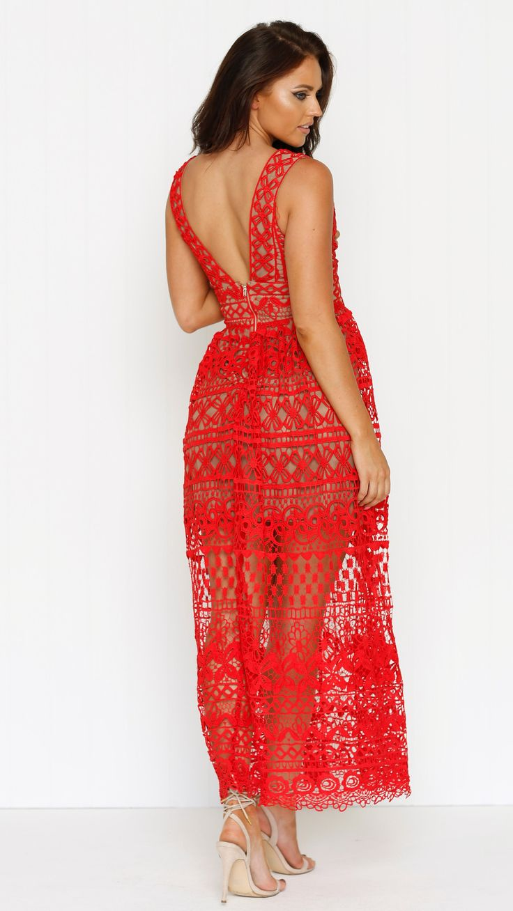 My Girl Lollipop Boutique - Paint The Town Red Maxi