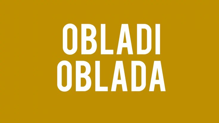 Obladi Oblada by The Beatles  No copyright infringement intended, but for fair use. I don't own the rights to this song.  Enjoy this wonderful classic by The…