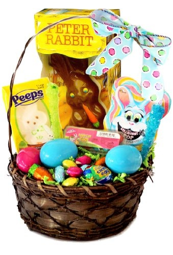 11 best easter gift baskets images on pinterest easter gift gourmet easter bunny and eggs candy gift basket holiday adds negle Images