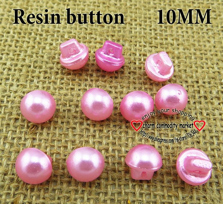 200PCS pearl pink RESIN button 10MM sweater KIDS buttons clothes findings R-081-7 $4,47