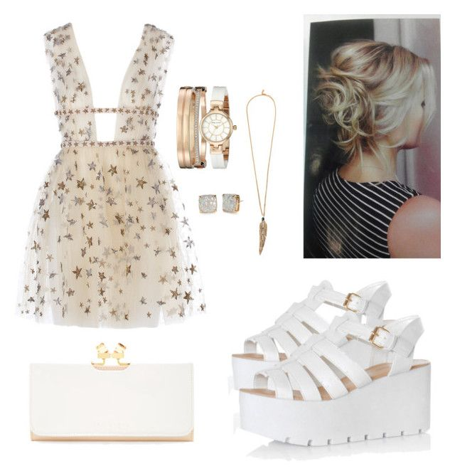"""""""WHITE&GOLD"""" by jjung5631 on Polyvore featuring Glamorous, Ted Baker, Anne Klein, Roberto Cavalli and Kate Spade"""