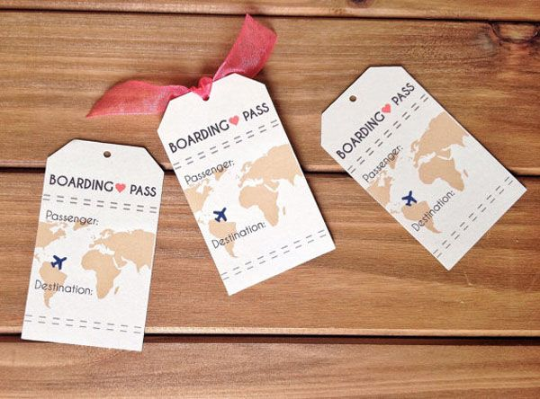 boarding pass place cards