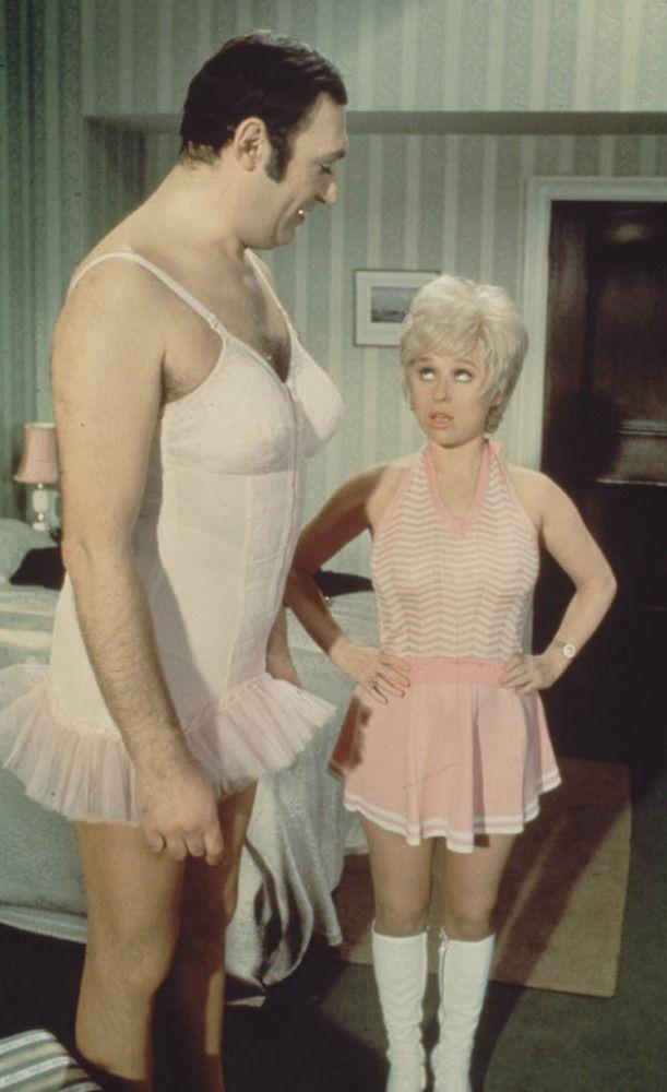 Bernard Bresslaw and Barbara Windsor in Carry on Girls. 1973