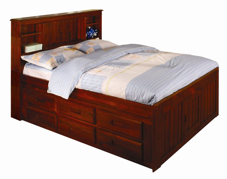 Full Size Captains Bed With Under Bed Storage