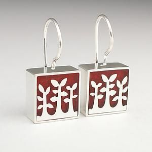 Jasper+Trees by Victoria+Varga: Silver+&+Resin+Earrings available at www.artfulhome.com