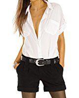 Bestyledberlin Damen Jeansshorts, Kurze Hosen, Used Look Denim Jeans Shorts j100kw 31: Amazon.de: Bekleidung