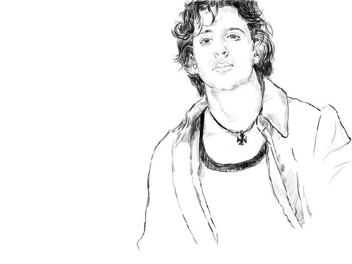 Hritik Roshan, the superstar of Bollywood... I know in reality it's not possible.. But lemme just get the feel that I have my friend at least in my sketches... praising my work