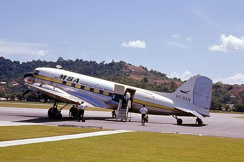 Douglas DC-3 | This is the Malaysia Singapore Airways DC-3 t… | Flickr